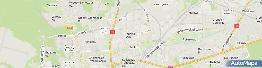 Zdjęcie satelitarne Mariola Szymańska - Działalność Gospodarcza