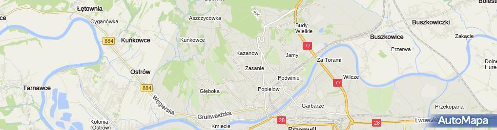 Zdjęcie satelitarne Mariusz Jodłowski Zakład Naprawy Wag