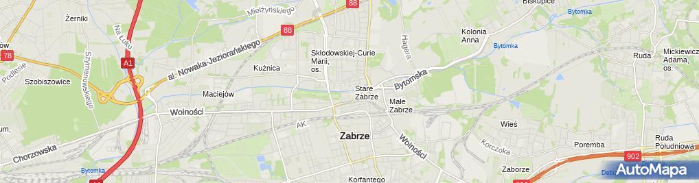 Zdjęcie satelitarne Mariusz Witek Bar Medyk, Dekoracja Kościołów Sonia