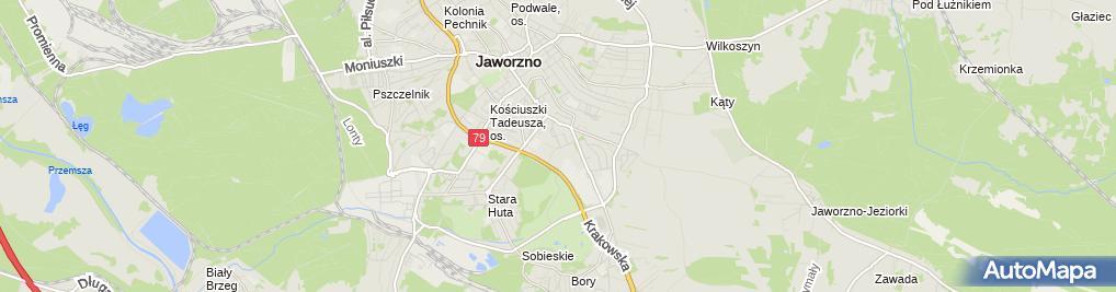 Zdjęcie satelitarne Marketing Center J Kos R Nowak