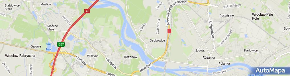 Zdjęcie satelitarne Markowiak E., Wrocław