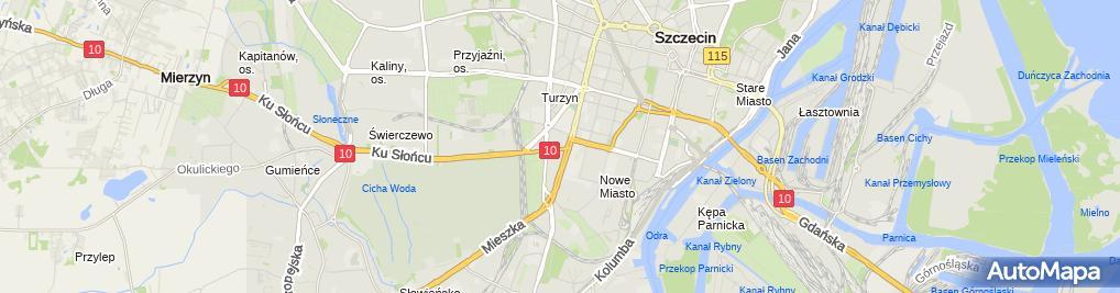 Zdjęcie satelitarne Maro Przedsiębiorstwo Handlowo Usługowe