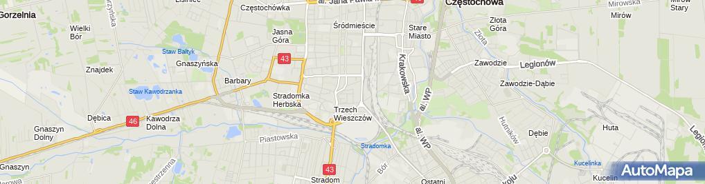 Zdjęcie satelitarne Marta Filo Rogulska Indywidualna Praktyka Lekarska