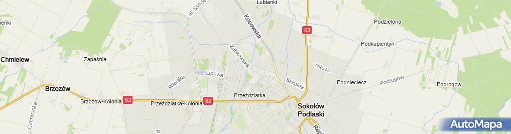 Zdjęcie satelitarne Mastalerczuk Zbigniew Stacja Obsługi Samochodów Witold Bukowicki Tadeusz Hanusz Zbigniew Mastalerczuk, Usługi Transportowe Zbigniew Mastalerczuk