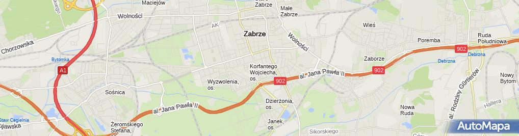 Zdjęcie satelitarne Master Media Wiszniewski Janusz Grzeszczak Bożena