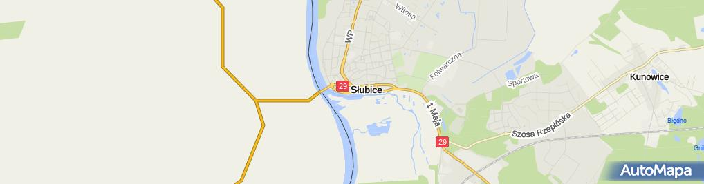 Zdjęcie satelitarne Maszyny Budowlane Słubice