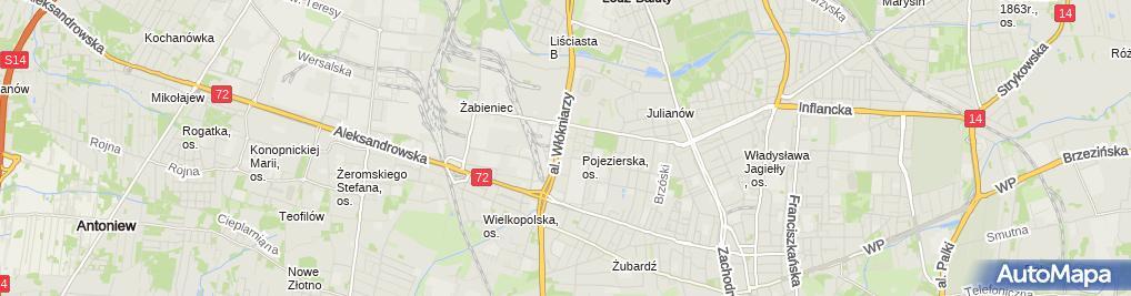 Zdjęcie satelitarne Mawikom Dariusz Banert Włodzimierz Banert