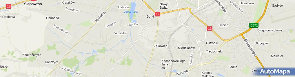 Zdjęcie satelitarne MCH Krówka E Nosowska B Hys M Wikalińska A Skalska B Woźniak J Morawska A Soból