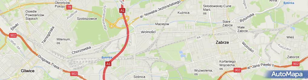 Zdjęcie satelitarne Meble Krokus Przemysław Fudała