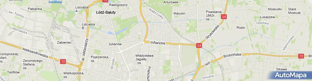 Zdjęcie satelitarne Mechanika i Blacharstwo Pojazdowe