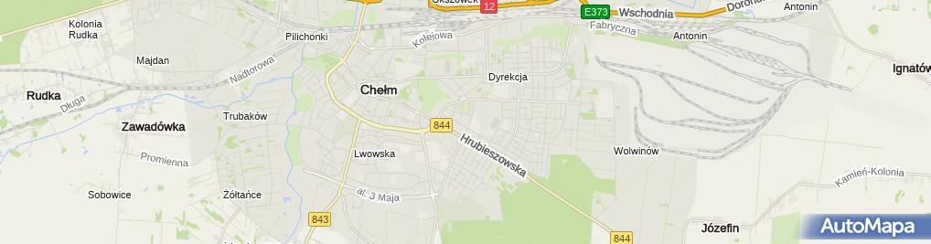 Zdjęcie satelitarne Mechanika Pojazdowa w Zawieszeniu