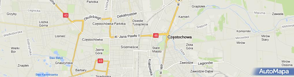 Zdjęcie satelitarne Metalplast Częstochowa