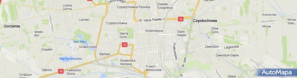 Zdjęcie satelitarne mgr Łukasz Kubacki Kubacki Nieruchomości Kancelaria Nieruchomości