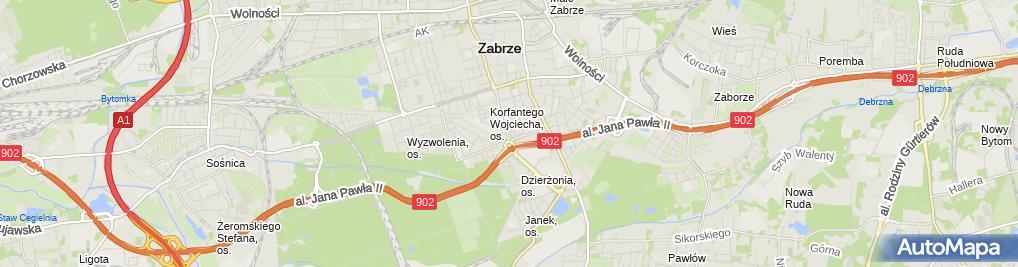 Zdjęcie satelitarne Michał Dzierko Usługi Finansowe