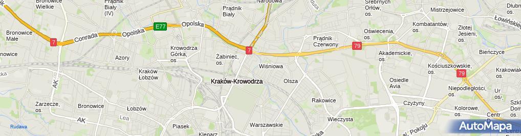 Zdjęcie satelitarne Michał Kaźmierczak Firma Handlowa D.C.G i Spółka