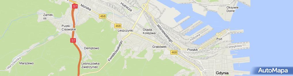 Zdjęcie satelitarne Michał Lutomski - Działalność Gospodarcza