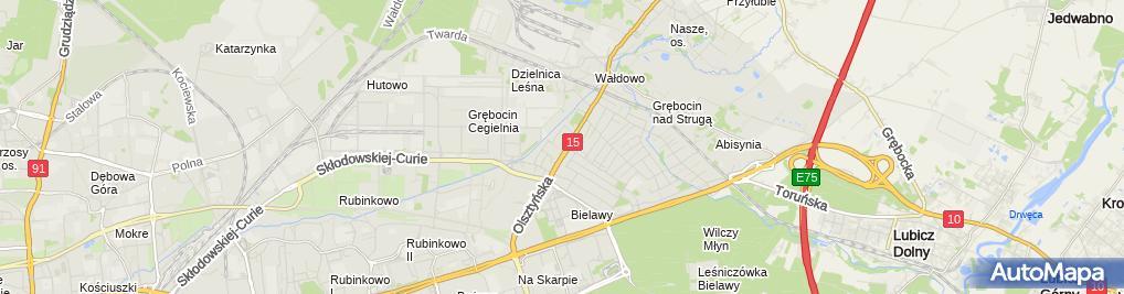 Zdjęcie satelitarne Michałek Bogdan Graw Komp