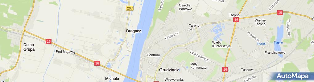 Zdjęcie satelitarne Międzyszkolny Klub Sportowy Basket - Grudziądz