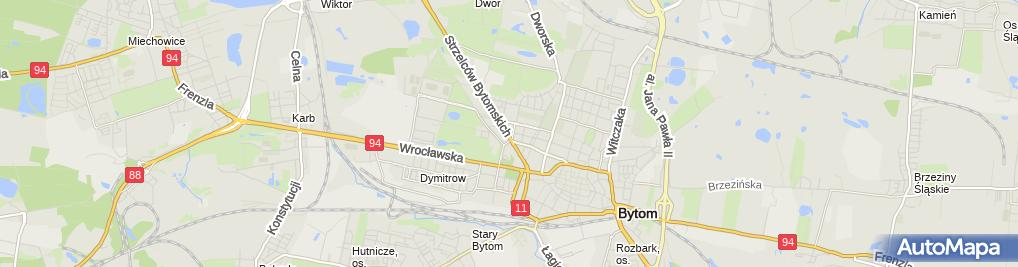 Zdjęcie satelitarne Miejski Ośrodek Pomocy Rodzinie