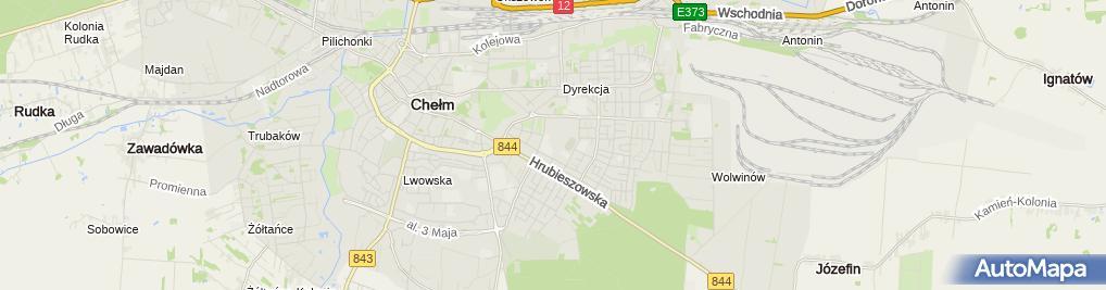 Zdjęcie satelitarne Miejski Ośrodek Sportu i Rekreacji w Chełmie