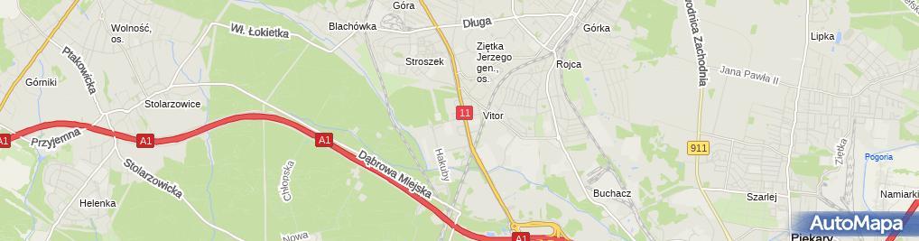 Zdjęcie satelitarne Mini Market Magda M Caban S Dęboń