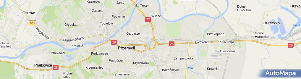 Zdjęcie satelitarne Mirosław Jurkiewicz Przedsiębiorstwo Handlowe Miron
