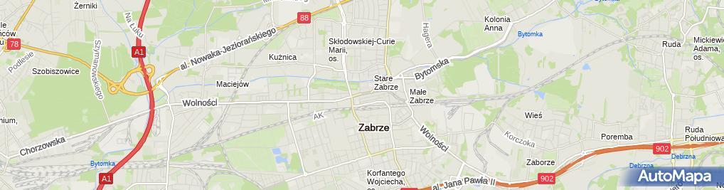 Zdjęcie satelitarne Mirosław Partyka Elpar