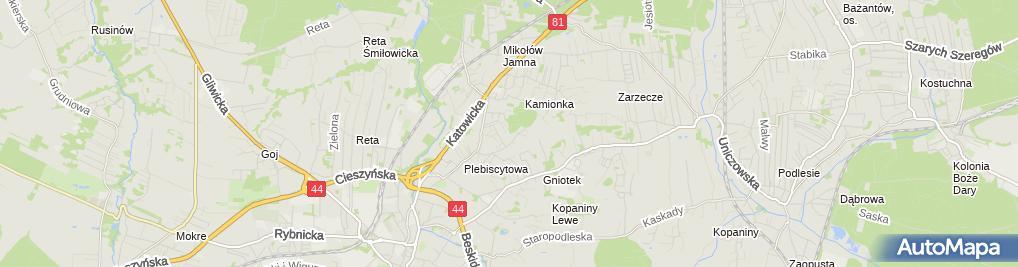 Zdjęcie satelitarne Mirosława Dynowiec F.H.Ortex Centrum Tekstylne