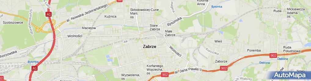 Zdjęcie satelitarne Moda Dziecięca Oliwia i Kubuś Beata Karaś Piekarska