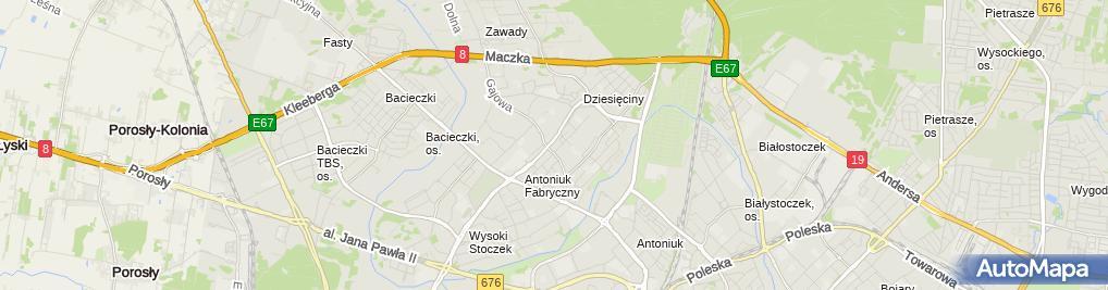 Zdjęcie satelitarne Modo Odzież Używana i Nowa Lilla Agnieszka Bujak