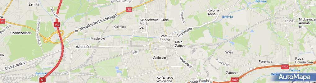 Zdjęcie satelitarne Mostostal Zabrze Biuro Projektów i Realizacji S.A.