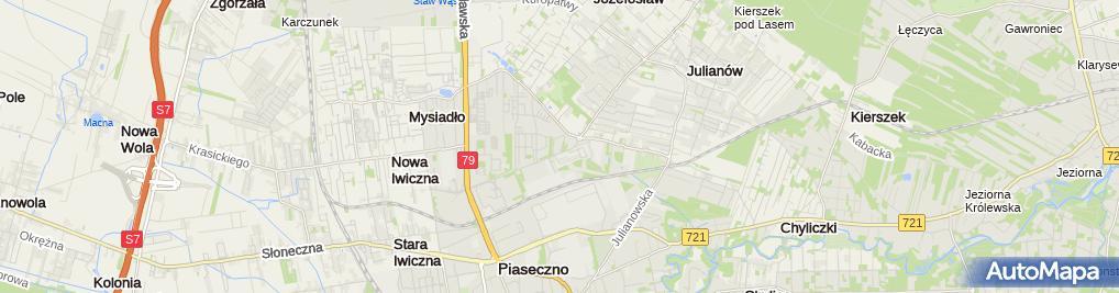 Zdjęcie satelitarne Motozabytki Tomasz Skrzeliński