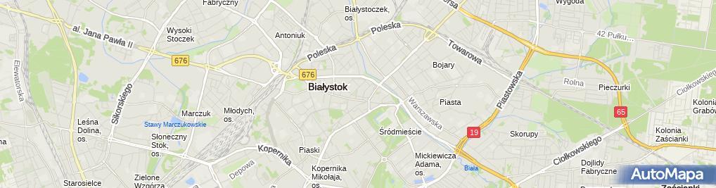 Zdjęcie satelitarne MW Zarządzanie Nieruchomościami Marek Waluk