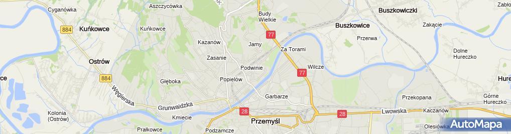 Zdjęcie satelitarne Nadsańskie Stowarzyszenie Muzyczne w Przemyślu