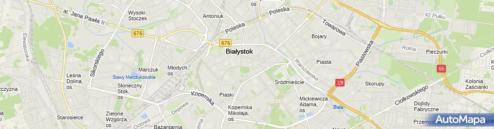 Zdjęcie satelitarne Nauczanie Języków Obcych Małgorzata Jabłońska