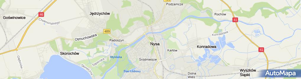 Zdjęcie satelitarne Niepubliczny Zakład Opieki Zdrowotnej Remedium Głucha Wojdak Zofia Rozumek Kazimierz