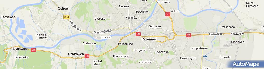 Zdjęcie satelitarne Niezależny Samorządny Związek Pracowników Przemyskiej Spółdzielni Mieszkaniowej