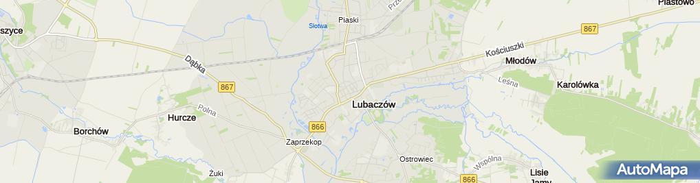 Zdjęcie satelitarne Niezależny Samorządny Związek Zawodowy Pracowników Handlu i Spółdzielczości Gminnej Spółdzielni Samopomoc Chłopska w Lubaczowie