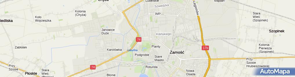 Zdjęcie satelitarne Niezależny Samorządny Związek Zawodowy Pracowników PKS w Zamościu