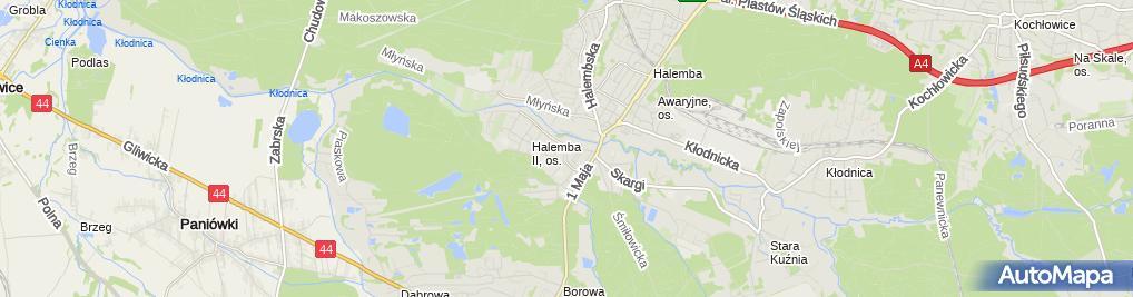 Zdjęcie satelitarne NZOZ Panaceum