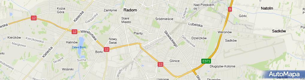 Zdjęcie satelitarne Oaza Trans Biuro Usługowe Stąpor Dariusz Zbojna Stanisław