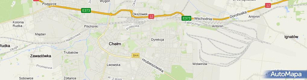 Zdjęcie satelitarne Obsługa Szatni