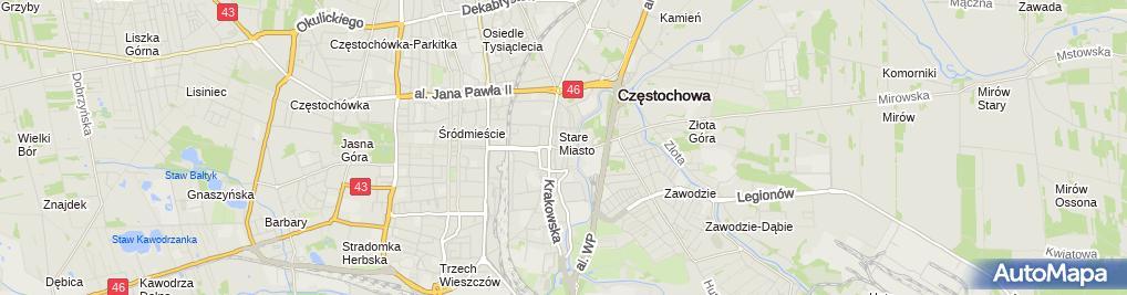 Zdjęcie satelitarne Obwoźny Punkt Gastronomiczny Tomasz Jan Szcześniak