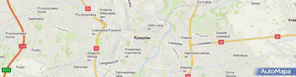 Zdjęcie satelitarne Ochotnicze Hufce Pracy Podkarpacka Wojewódzka Komenda