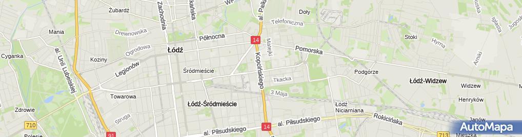 Zdjęcie satelitarne Oddział Łódzki Polskiego Towarzystwa Fizjoterapii