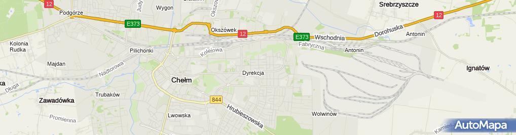 Zdjęcie satelitarne Okręg Polskiego Związku Wędkarskiego w Chełmie