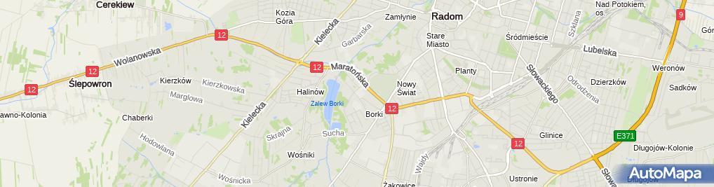Zdjęcie satelitarne Okręgowy Związek Strzelectwa Sportowego w Radomiu