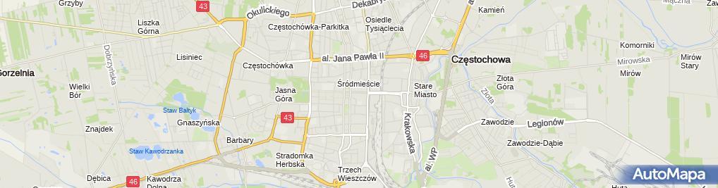 Zdjęcie satelitarne Ośrodek Postępu i Informacji Pedagogicznej Jadwiga Ponchała