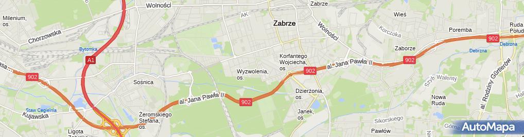 Zdjęcie satelitarne Ośrodek Szkolenia Kierowców Ekspress Bożena Nessel