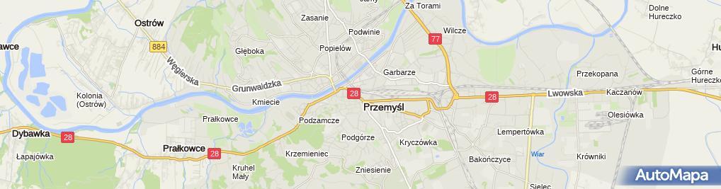 Zdjęcie satelitarne Ośrodek Szkolenia Kierowców Karczma